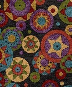 Penny Rug Dots Dark