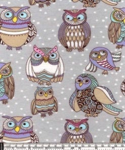 custom weighted blanket owls swatch