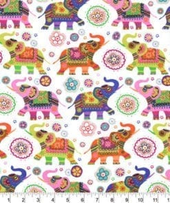 Elephants Flannel Swatch