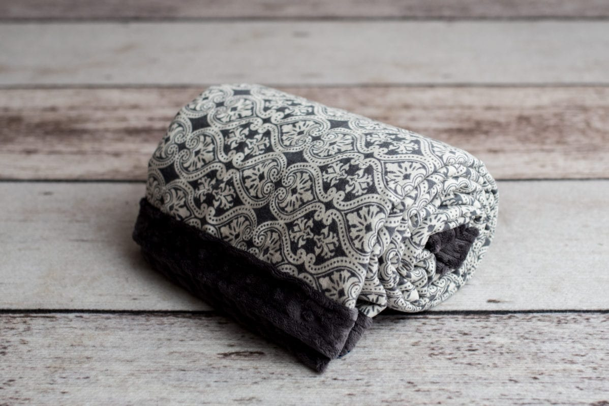 Custom Weighted Blanket Ash/Damask Combo Roll
