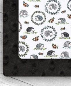 Custom Weighted Blanket Black/Hedgehogs Combo