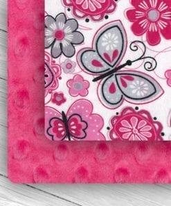 Custom Weighted Blanket Fuchsia/Butterflies Combo