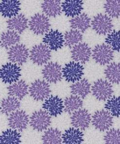 Purple Flower Flannel Swatch