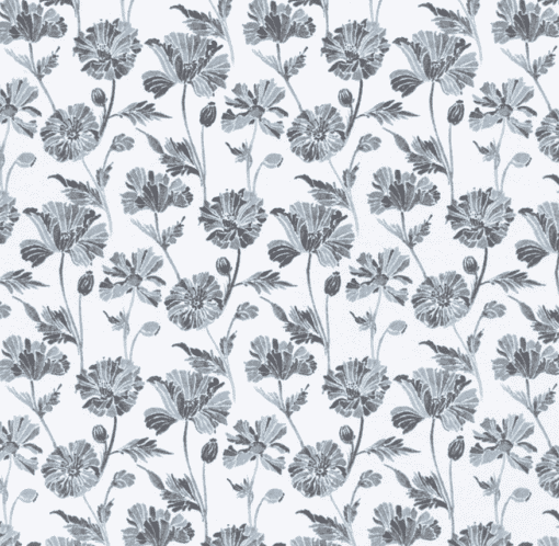 Gray Floral Flannel Swatch