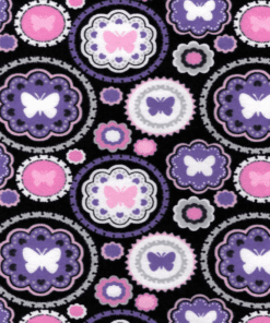 custom weighted blanket butterfly circle fabric