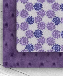 Custom Weighted Blanket Amethyst/Purple Flower Combo