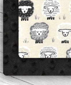 Custom Weighted Blanket Black/Little Lambs Combo