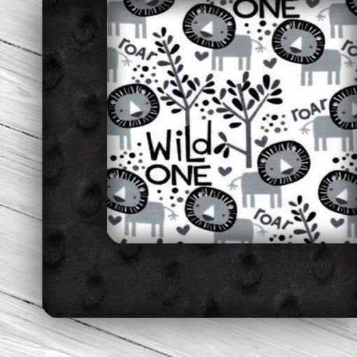 Custom Weighted Blanket Black/Wild One Combo