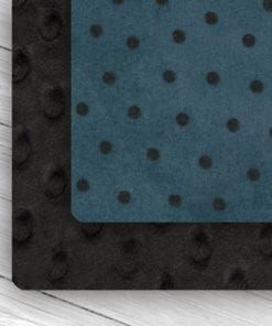 Custom Black/Blue Polka Dot Weighted Blanket combo