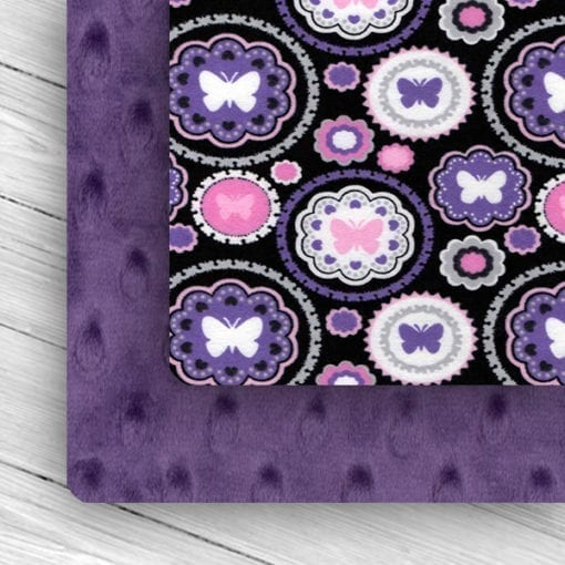 butterfly/amethyst custom weighted blanket combo