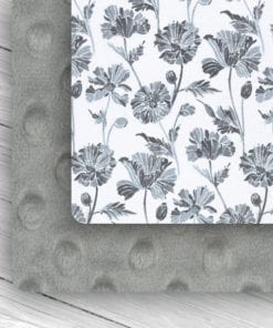 Custom Weighted Blanket Silver/Gray Floral Combo