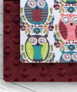 Custom Weighted Blanket Merlot/Owls Combo