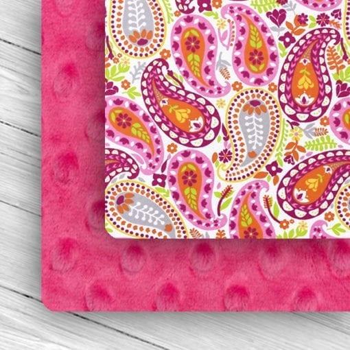 Custom Weighted Blanket Fuchsia/Paisley Combo