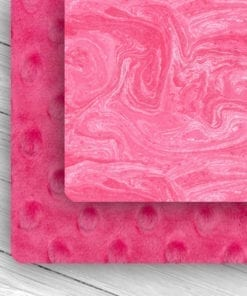 Custom Weighted Blanket Fuchsia/Pin k Oil Spill Combo