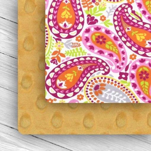 custom weighted blanket paisley/mango combo