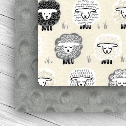 Custom Weighted Blanket Silver/Little Lambs Combo