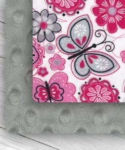 Custom Weighted Blanket Silver/Butterflies Combo