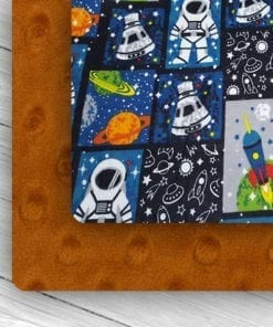 Custom Weighted Blanket Rust/Astronaut Combo